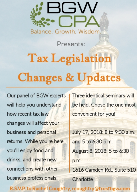 Upcoming Tax Seminars Focus on Tax Reform. Join us!